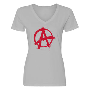 Womens Anarchy Vneck T-shirt