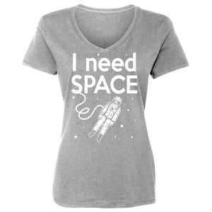 Womens I Need SPACE Vneck T-shirt