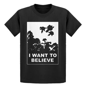 Youth I Want to Believe Super Girls Kids T-shirt