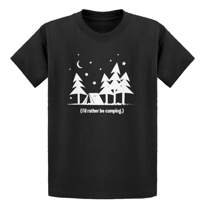 Youth I'd Rather be Camping Kids T-shirt