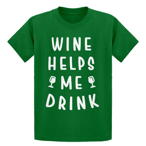 Youth Wine Helps Me Drink Kids T-shirt