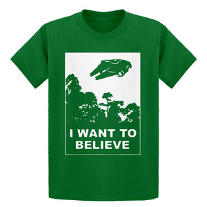 Youth I Want to Believe Star Ship Kids T-shirt