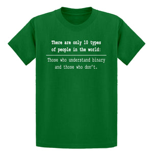 Youth 10 Types of People Kids T-shirt