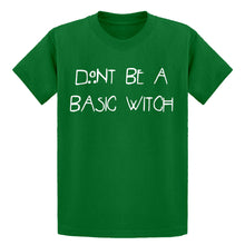 Youth Dont Be a Basic Witch Kids T-shirt