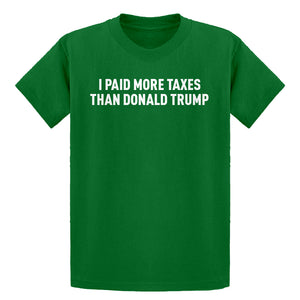 Youth I PAID MORE TAXES THAN DONALD TRUMP Kids T-shirt