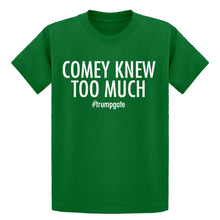 Youth Comey Knew Too Much Kids T-shirt