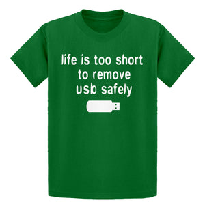 Youth Remove USB Safely Kids T-shirt