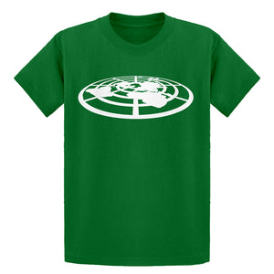 Youth Flat Earth Society Kids T-shirt