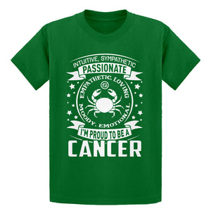 Youth Cancer Astrology Zodiac Sign Kids T-shirt