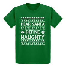 Youth Dear Santa Define Naughty Kids T-shirt