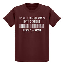 Youth Its All Fun and Games Until Someone Misses a Scan Kids T-shirt