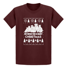 Youth We Wish You a Hairy Christmas Kids T-shirt