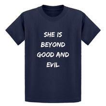 Youth She is Beyond Good and Evil Kids T-shirt