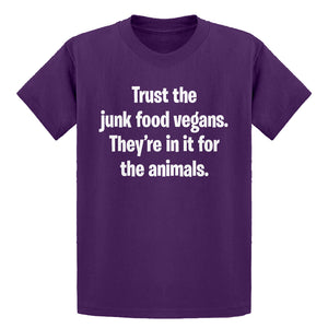 Youth Junk Food Vegans Kids T-shirt