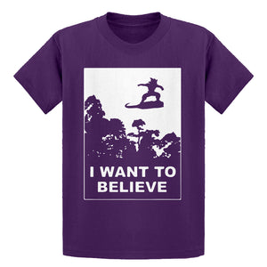 Youth I Want to Believe Nimbus Fighter Kids T-shirt