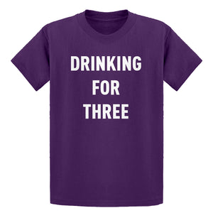 Youth Drinking For Three Kids T-shirt