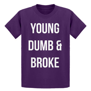 Youth Young Dumb & Broke Kids T-shirt