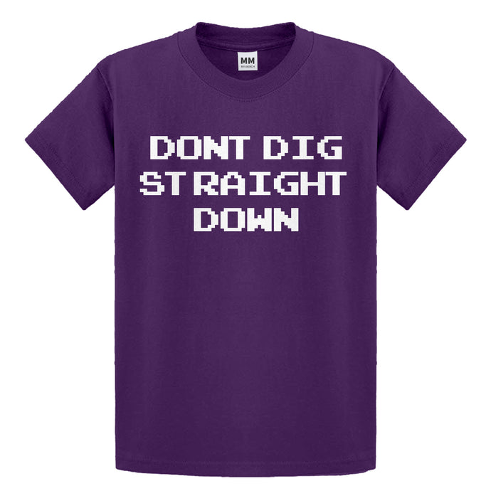 Youth Don't Dig Straight Down Kids T-shirt