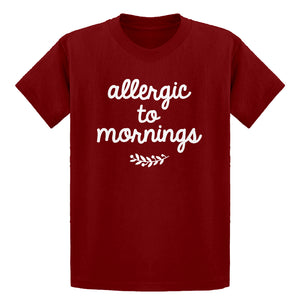 Youth Allergic to Mornings Kids T-shirt