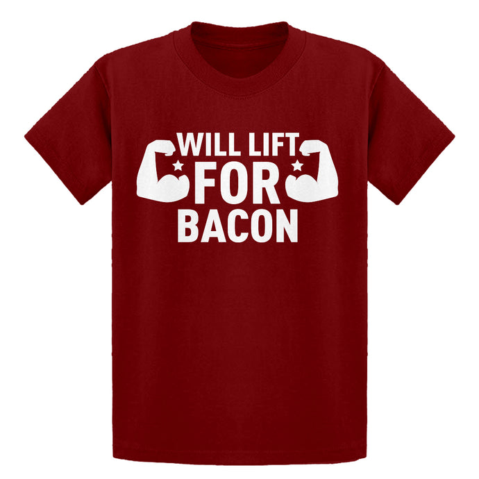 Youth Will Lift for Bacon Kids T-shirt