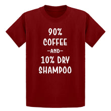 Youth 90% Coffee 10% Dry Shampoo Kids T-shirt