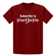Youth Subscribe to PewDiePie Kids T-shirt