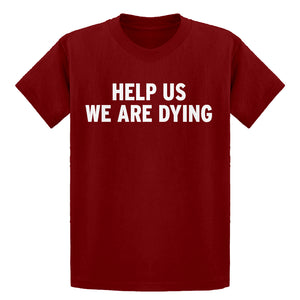 Youth Help Us We Are Dying Kids T-shirt