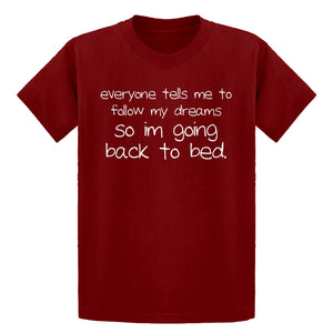 Youth Back to Bed Kids T-shirt