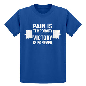 Indica Plateau Youth Pain is Temporary Victory is Forever Kids T-Shirt