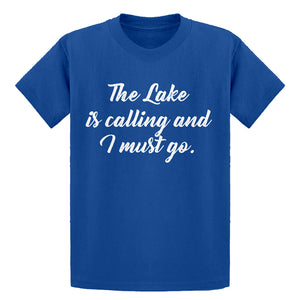 Youth The Lake is Calling and I must Go Kids T-shirt