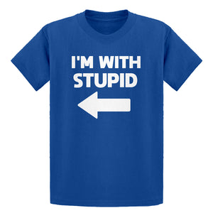 Youth I'm With Stupid Left Kids T-shirt