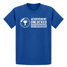 Youth Achievement Unlocked Fatherhood Kids T-shirt