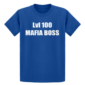 Youth Lvl 100 Mafia Boss Kids T-shirt
