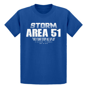 Youth Storm Area 51 They Can't Stop Us All Kids T-shirt