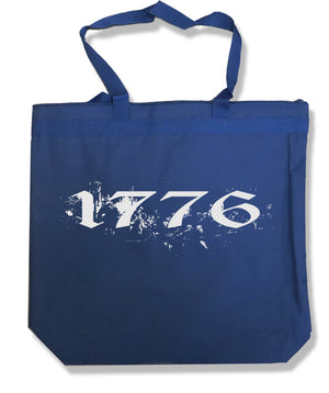 1776 Zippered Tote Bag by Libertarian Country