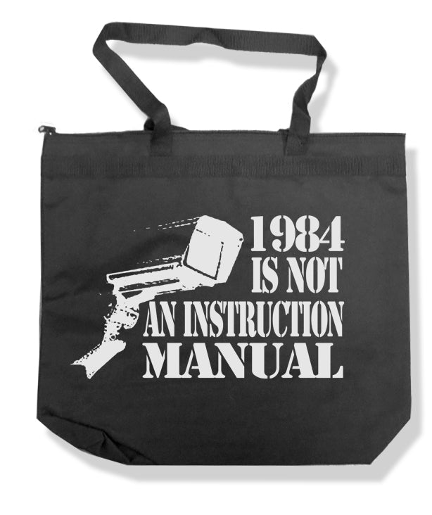 1984 Is Not an Instruction Manual Tote Bag by Libertarian Country