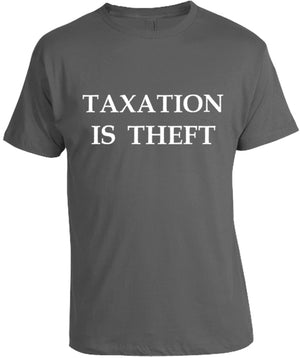 Taxation is Theft Smoke T-Shirt by Libertarian Country