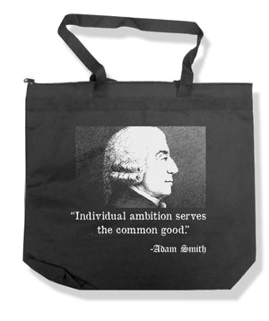 Adam Smith Individual Ambition Tote Bag by Libertarian Country