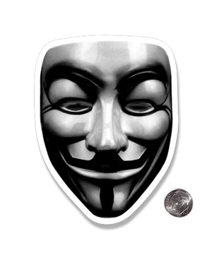 Anonymous Guy Fawkes Mask Die Cut Sticker
