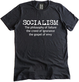 Anti-Socialism Premium Dual Blend Tee by Libertarian Country