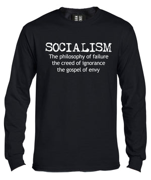 Anti Socialism Long Sleeve Shirt by Libertarian Country