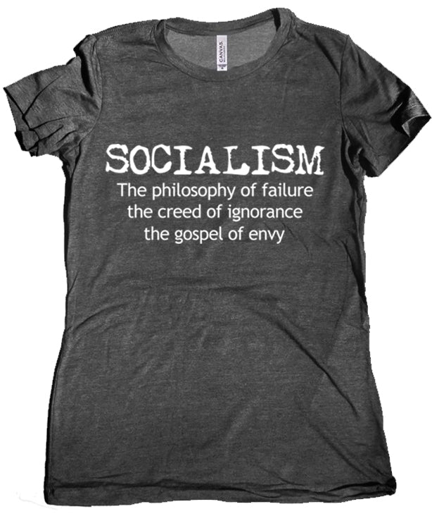 Anti-Socialism Premium Women's T-Shirt by Libertarian Country
