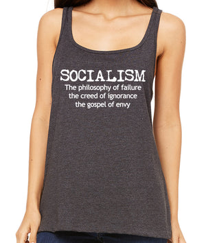 Anti-Socialism Premium Women's Tank Top by Libertarian Country