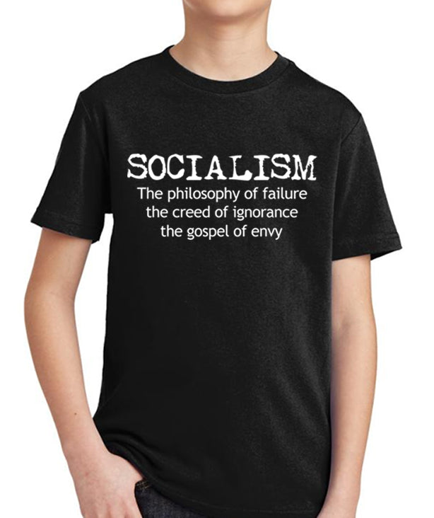 Anti Socialism Youth T-Shirt by Libertarian Country
