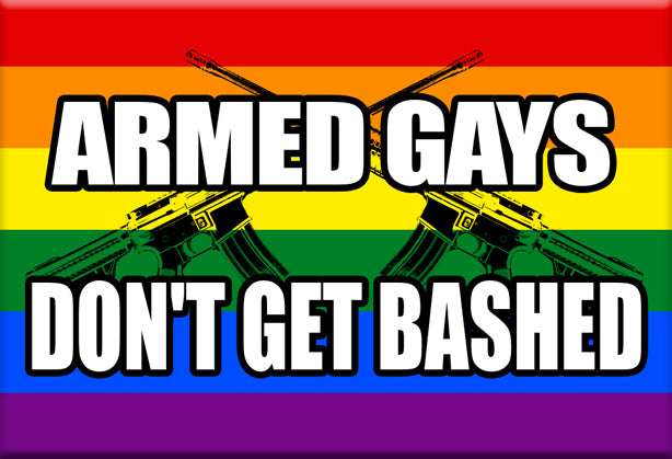 Armed Gays Don't Get Bashed Magnet by Libertarian Country