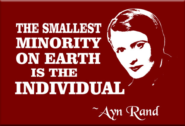 Ayn Rand Magnet by Libertarian Country