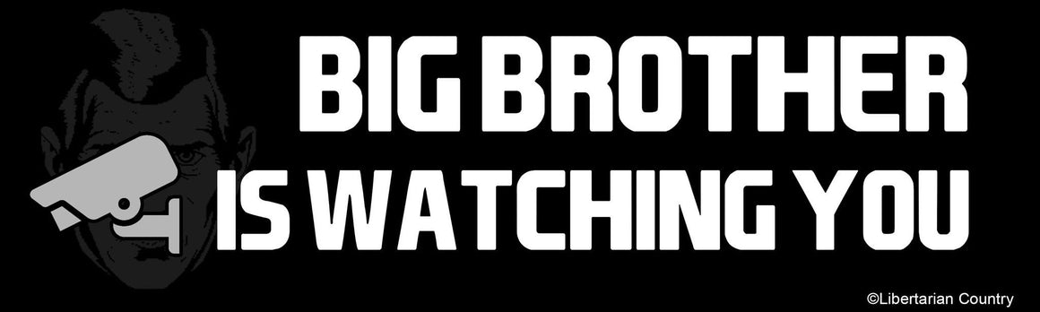 Big Brother is Watching You Bumper Sticker