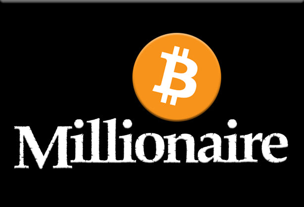 Bitcoin Millionaire Magnet by Libertarian Country