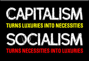 Capitalism Luxuries Magnet by Libertarian Country
