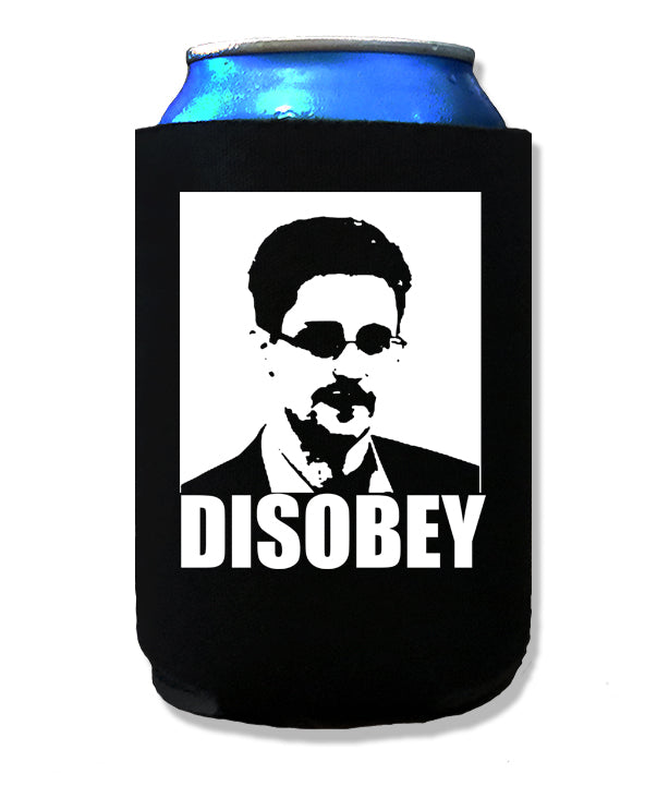 Edward Snowden Disobey Koozie by Libertarian Country